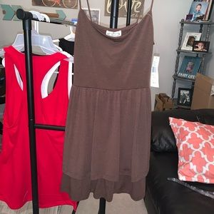 Size small brand new with tags brown layered dress